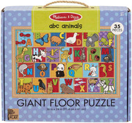 Melissa & Doug Natural Play 35pc Giant Floor Puzzle - ABC Animals