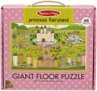 Melissa & Doug Natural Play Giant Floor Puzzle: Princess Fairyland (60 Pieces)