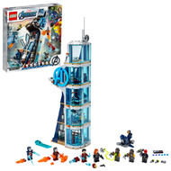 LEGO Marvel Avengers: Avengers Tower Battle 76166 Brick Building Toy with Action Scenes (687 Pieces)