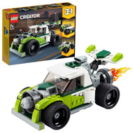 LEGO Creator 3in1 Rocket Truck 31103 Action Building Toy for Kids, Build a Rocket Truck, Off-Roader or Quad Bike (198 Pieces)