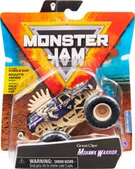 Monster Jam, Official Mohawk Warrior Monster Truck, Die-Cast Vehicle, Bone Yard Trucks Series, 1:64 Scale
