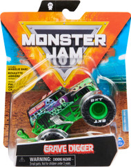 Monster Jam, Official Grave Digger Monster Truck, Die-Cast Vehicle, Show Time Series, 1:64 Scale