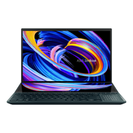 "ASUS ZenBook Pro Duo 15 OLED UX582 Laptop, 15.6"" OLED 4K UHD Touch Display, Intel Core i9 - 10980HK, 32GB RAM, 1TB SSD, GeForce RTX 3070, ScreenPad Plus, Windows 10 Pro, Celestial Blue, UX582LR-XS94T"