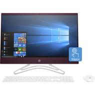 """HP 24-f1000 24-f1022ds All-iner-One Comput - AMD Athlon 300U 2.40 GHz - 8 GB RAM DDR4 SDRAM - 1 TB HDD - 23.8"""" Full HD 1920 x 1080 Touchscreen Display - Desktop - (Renewed)"""