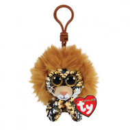 TY Flippables Sequin Plush - REGAL the Lion (Plastic Key Clip - 3.5 inch)