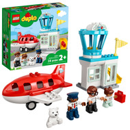 LEGO DUPLO Town Airplane & Airport 10961 Building Toy; Fun Gift for Toddlers (28 Pieces)