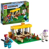 LEGO Minecraft The Horse Stable 21171 Building Toy Featuring a Skeleton Horseman (241 Pieces)