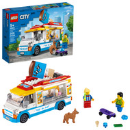 LEGO City Ice-Cream Truck 60253 Building Set for Kids (200 Pieces)