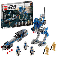 LEGO Star Wars 501st Legion Clone Troopers 75280 Building Toy, Cool Action Set for Creative Play (285 Pieces)
