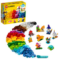 LEGO Classic Creative Transparent Bricks 11013 Building Toy with Transparent Bricks (500 Pieces)