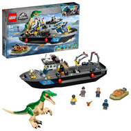 LEGO Jurassic World Baryonyx Dinosaur Boat Escape 76942 Building Toy Playset (308 Pieces)