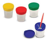 Melissa & Doug Spill-Proof Paint Cups - 4-Pack, Airtight Seal, Snap Lids