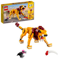 LEGO Creator 3in1 Wild Lion 31112; Building Toy Featuring Animal Toys for Kids (224 Pieces)