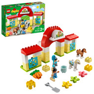 LEGO DUPLO Town Horse Stable and Pony Care 10951 Learning Toy for Preschoolers (65 Pieces)