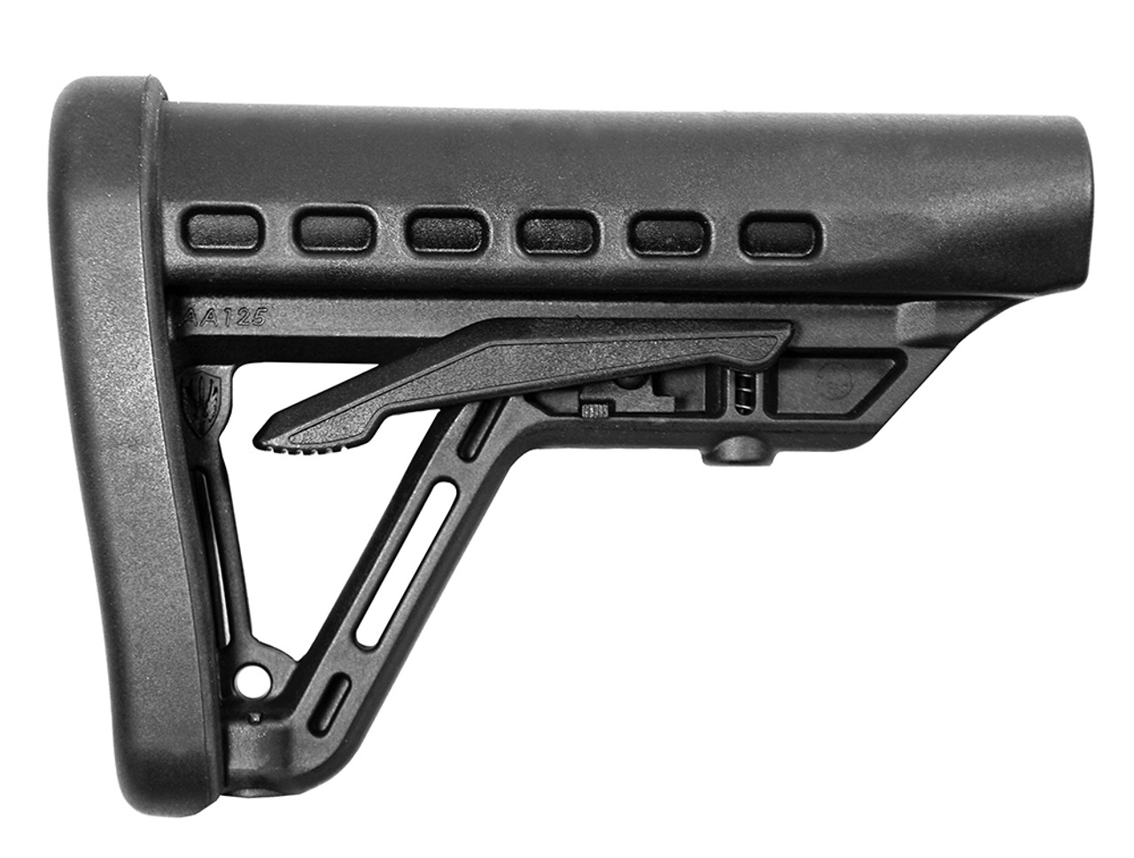 Archangel® Low-Profile AR-15® Buttstock with Commercial Tube - Black Polymer