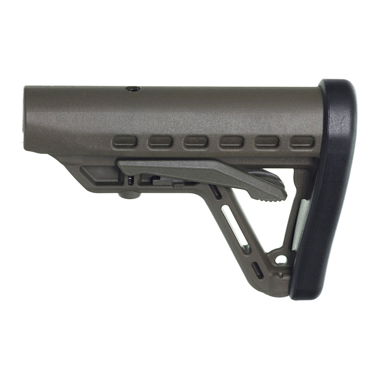 Archangel® Low-Profile AR-15® Buttstock Fits Commercial Tube - Olive Drab Polymer