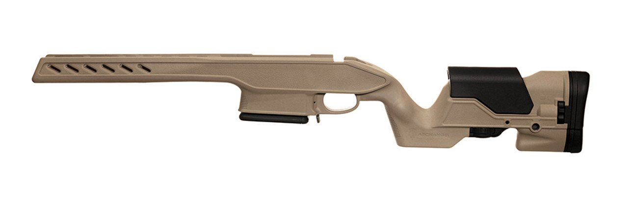 Archangel® 700 Precision Elite Stock for the Remington® Model 700® Long Action Standard Caliber - Desert Tan Polymer includes AASLA5 (7) Rd with a (5) Rd Limiter TYPE C Magazine