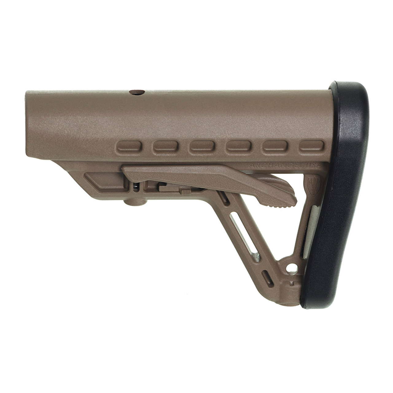 Archangel® Low-Profile AR-15® Buttstock Fits Commercial Tube - Flat Dark Earth Polymer