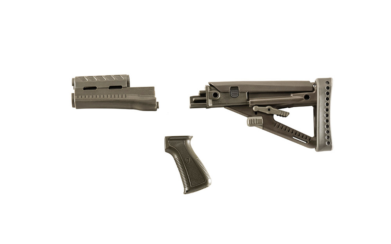 Archangel® OPFOR® Series Buttstock, Forend, Pistol Grip Complete set for the AK-47® / AKM - Olive Drab Polymer