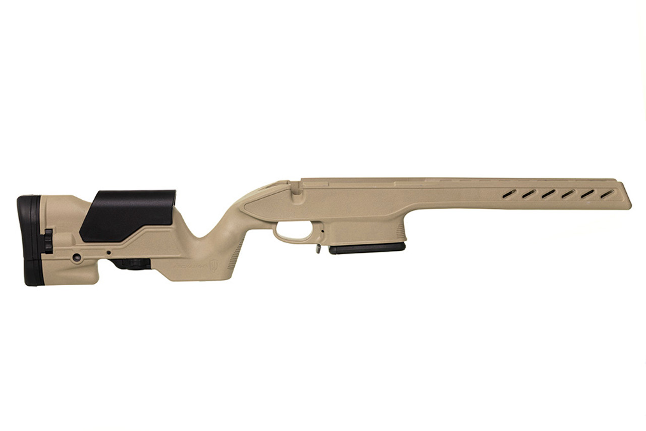 Archangel® 1500 Precision Elite Stock for the Howa™ 1500 & Weatherby® Vanguard® Long action (Magnum Cal) - Desert Tan Polymer includes AAMLA (6) Rd with a (5) Rd Limiter TYPE C Magazine