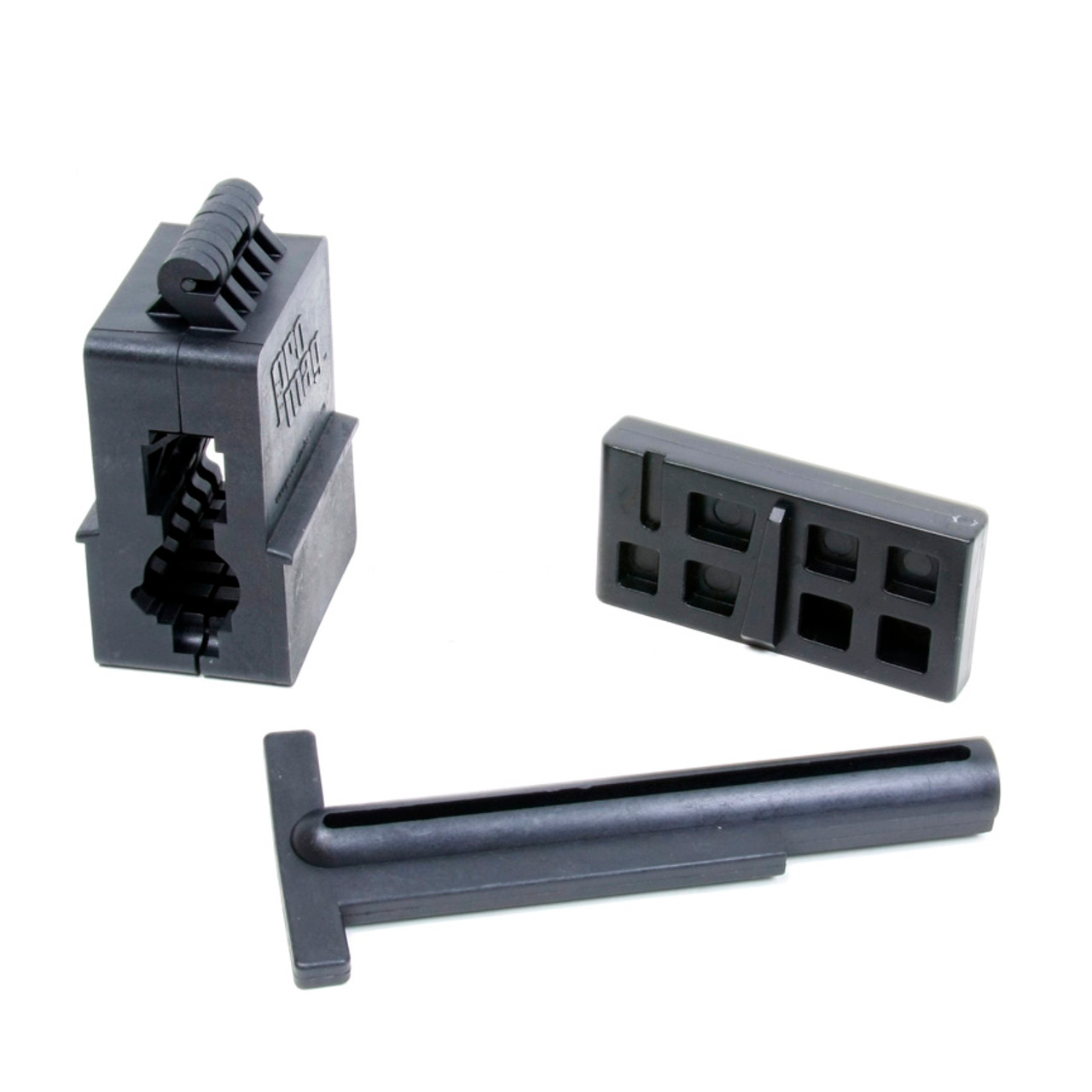 AR-15® / M16 Upper and Lower Receiver Magazine Well Vise Block Set - Black Polymer