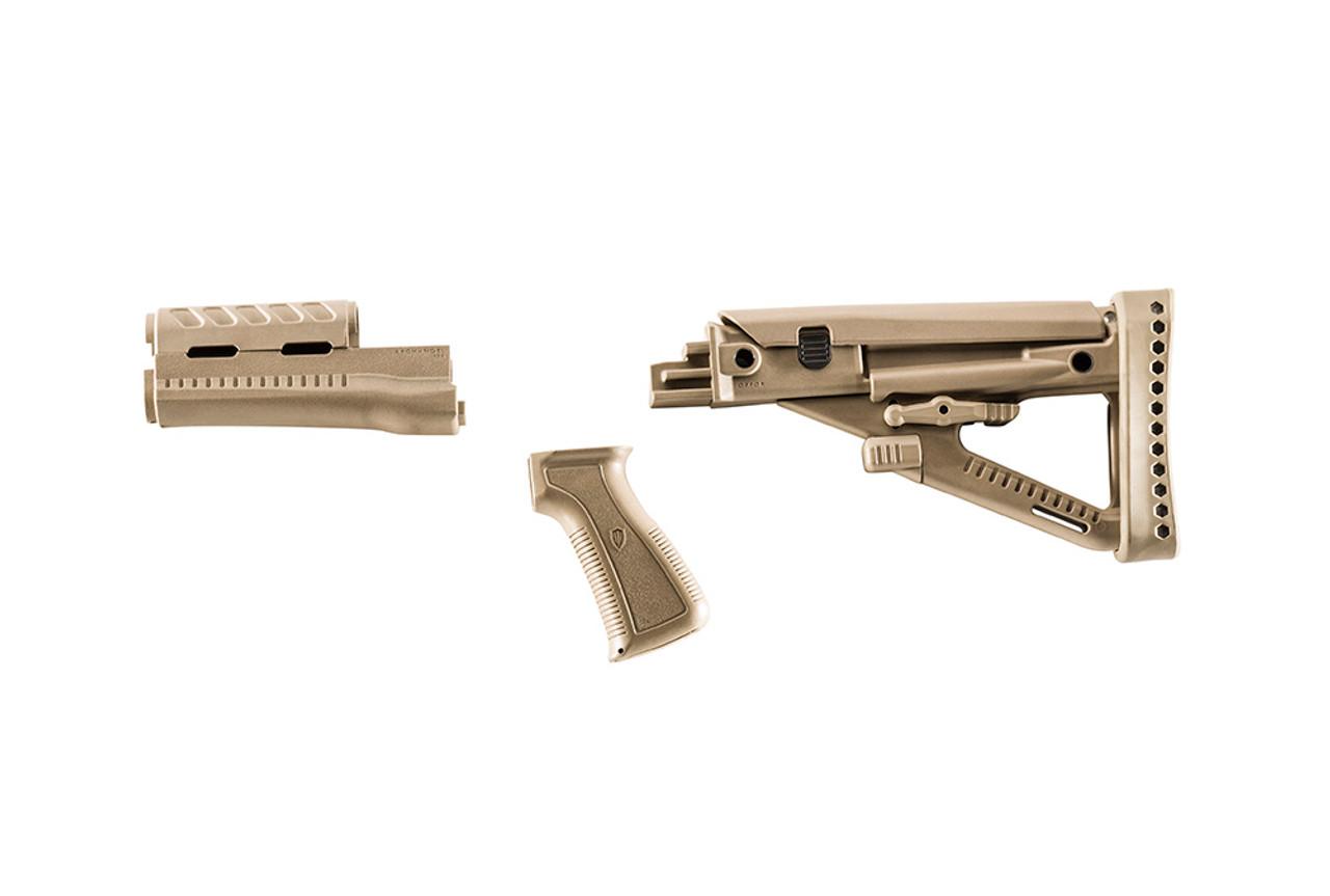 Archangel® OPFOR® Series Buttstock, Forend, Pistol Grip Complete set for the AK-47® / AKM - Desert Tan Polymer