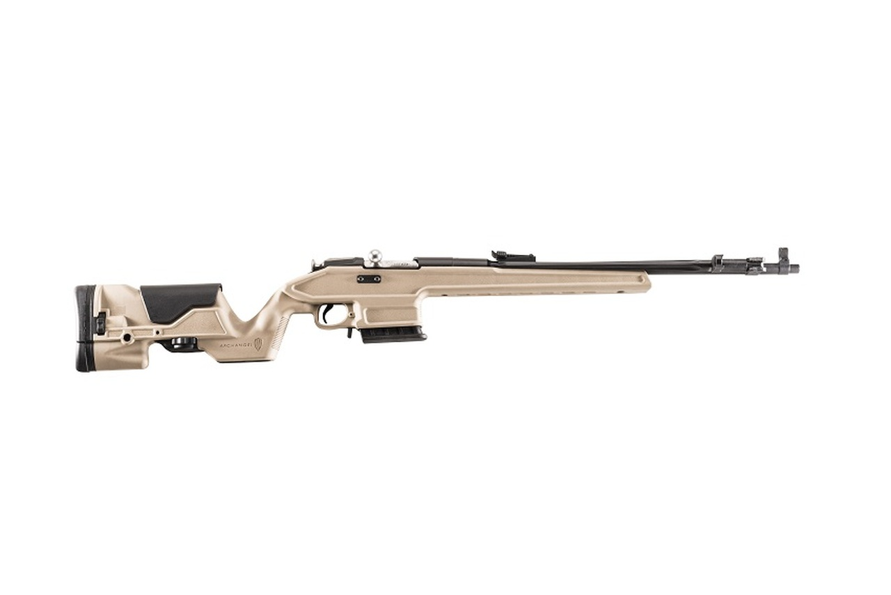 Archangel® Mosin Nagant OPFOR® Precision Rifle Stock - Desert Tan Polymer includes AA762R 02 (10) Rd Magazine