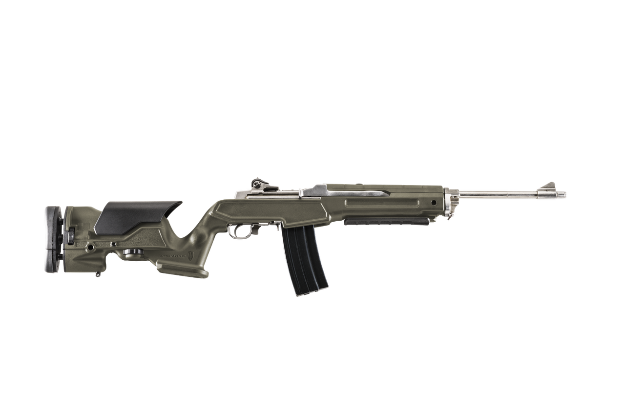Archangel® Precision Rifle Stock for the Ruger® Mini 14® / Mini Thirty® - Olive Drab Polymer