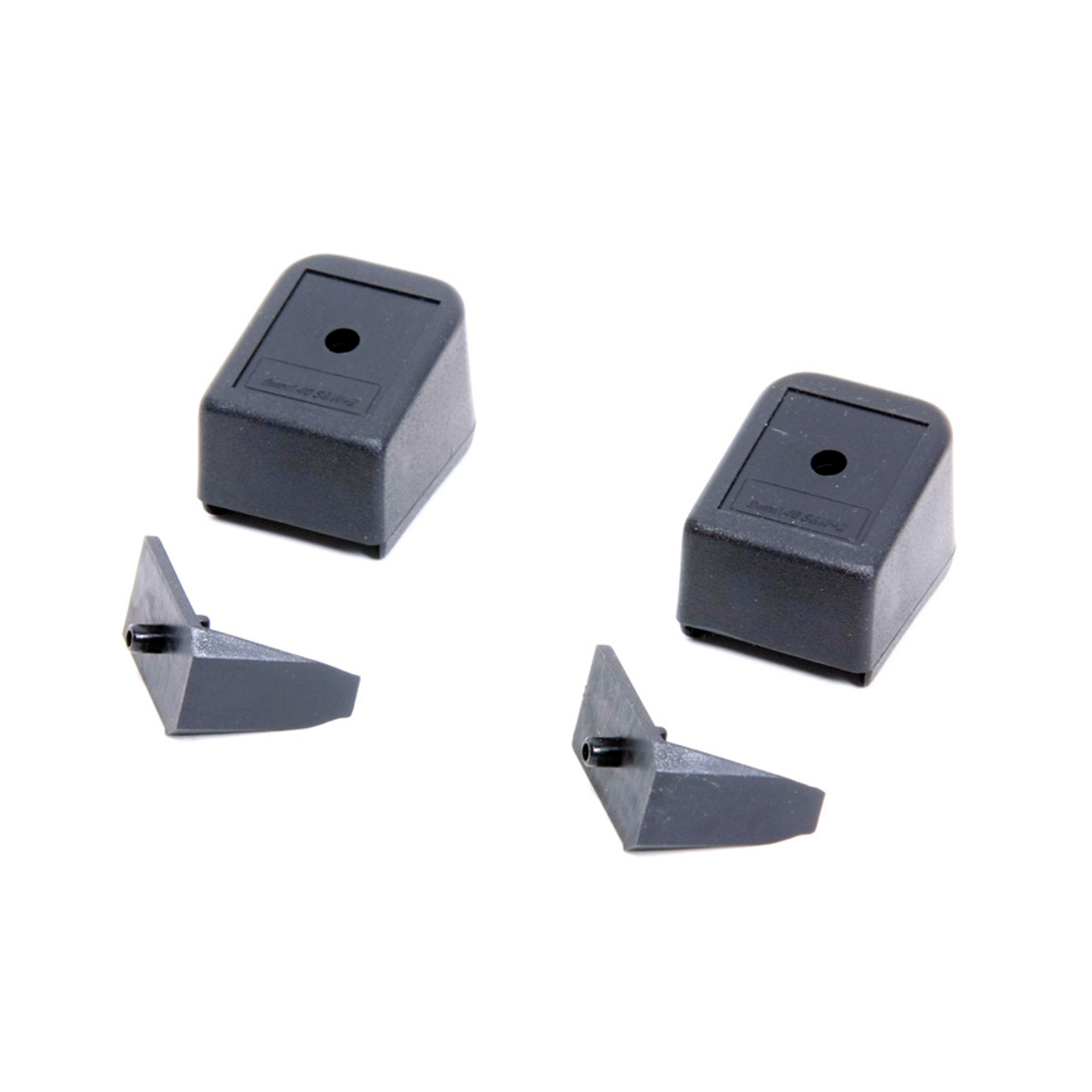 Fits the Glock® 9mm (+2) & .40 S&W (+1) Floor Plates (2 Pack) - Black Polymer
