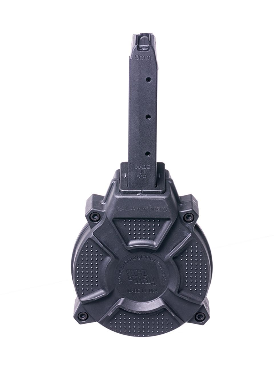 Fits the Glock® Model 17 & 19 9mm (50) Rd - Black Polymer Drum