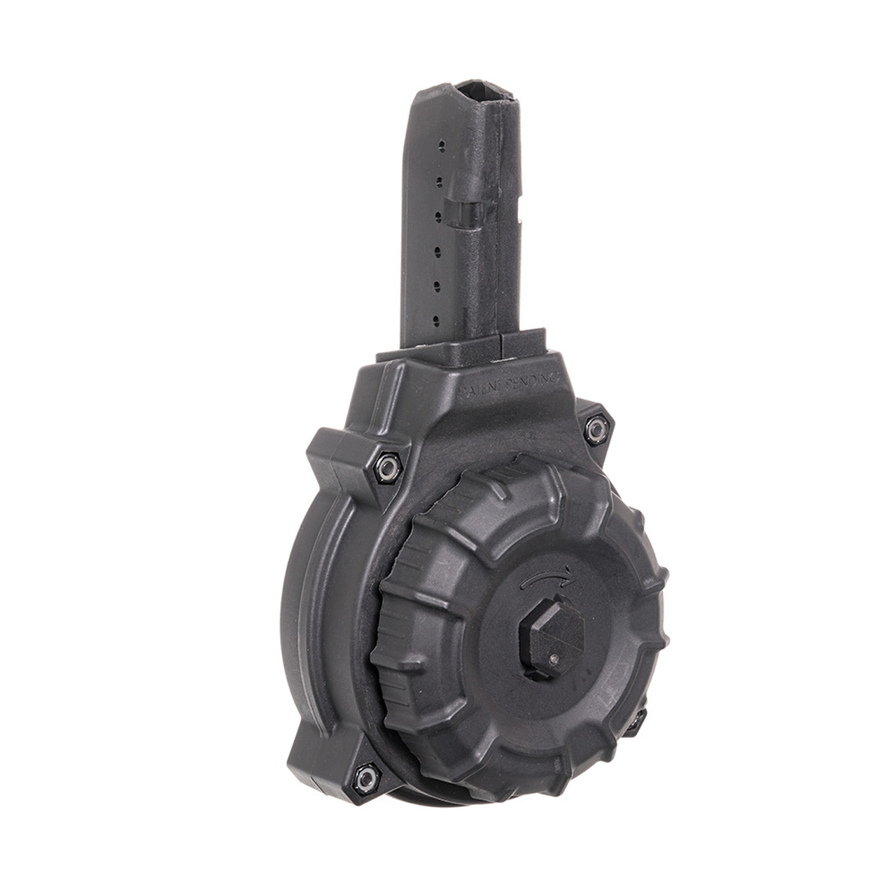 AR-15® 9mm Glock® Style Mag (50) Rd - Black Polymer Drum