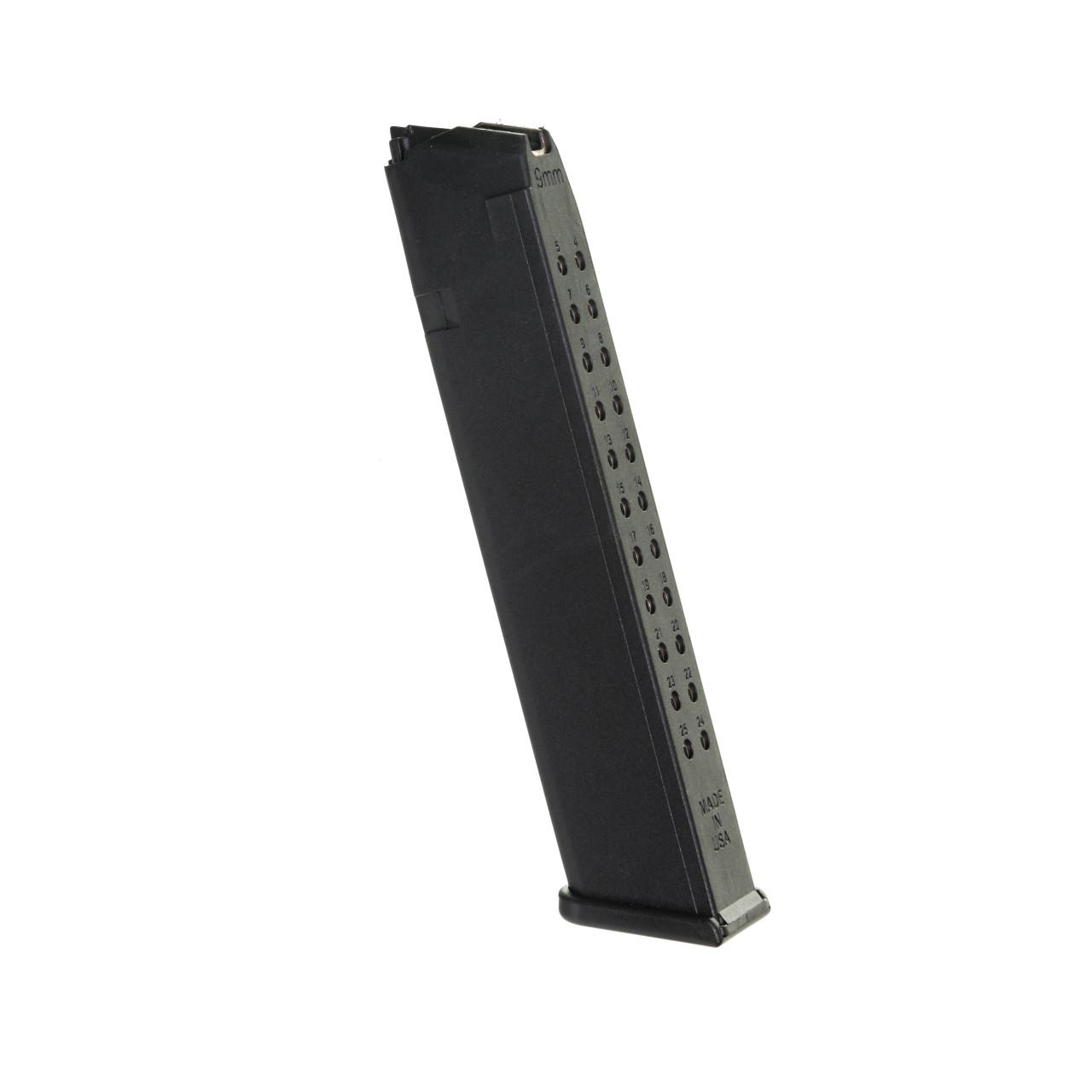 Fits the Glock® Model 17, 19, & 26 9mm (25) Rd - Black Polymer