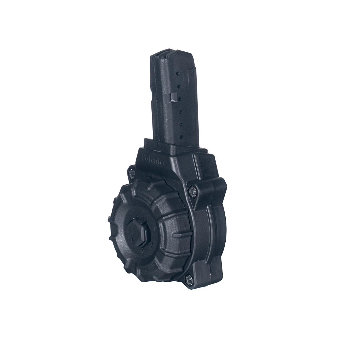 AR-15® 9mm Glock® Style Mag (30) Rd - Black Polymer Drum