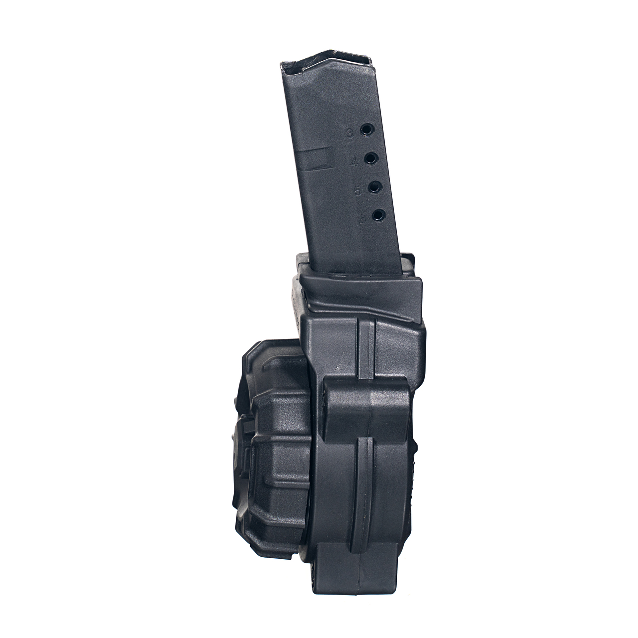 Fits the Glock® Model 43 9mm (30) Rd - Black Polymer Drum