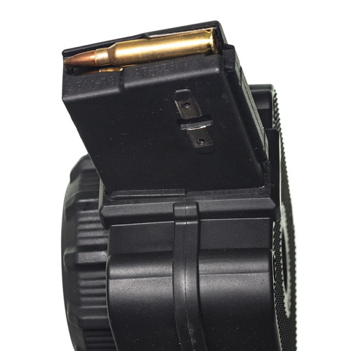 AR-15® 5.56mm (65) Rd - Black Polymer Drum
