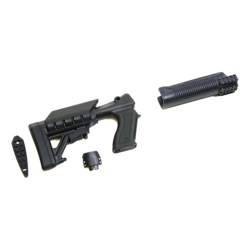 Archangel® 12 Gauge Tactical Pistol Grip Stock for Remington® Model 870™ includes 6 Position Adjustable Buttstock with Recoil Pad and Tri-Rail Forend - Black Polymer