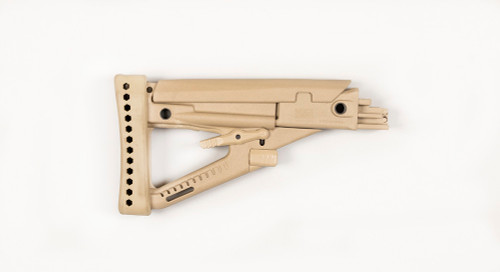 Archangel® OPFOR® AK-series (4) Position Adjustable Buttstock - Desert Tan Polymer