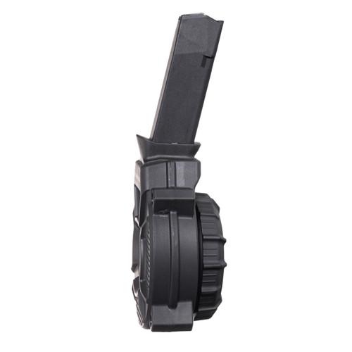 Fits the Glock® Model 48 / 43X 9mm (50) Rd - Black Polymer Drum