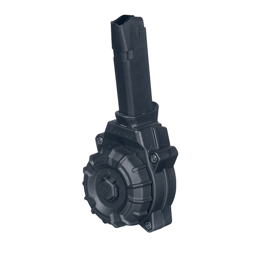 Fits the Glock® Model 48 / 43X 9mm (30) Rd - Black Polymer Drum