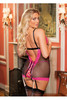 FISHNET AND LACE OPEN CHEMISE