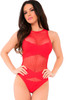 X-RATED SEAMLESS BODYSUIT RED, OS