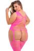 FLIGHTRISK SHEER BODYSTOCKING Pink PLUS SIZE