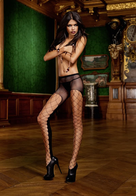 SHEER MESH PANTYHOSE