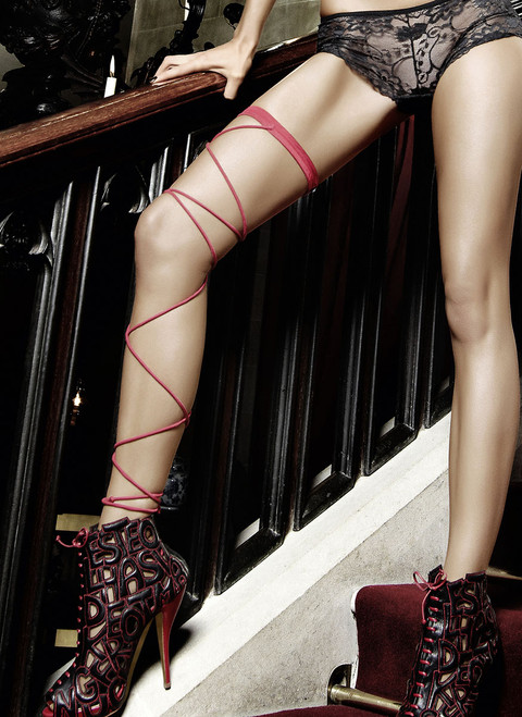 Red Wrap-Around Leg Garter