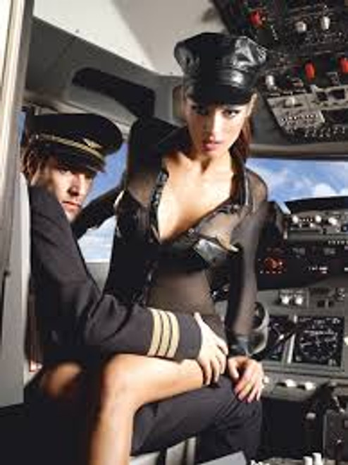 Black stewardess uniform with long sleeves