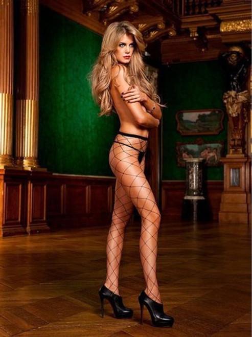 Sexy diamond net pantyhose