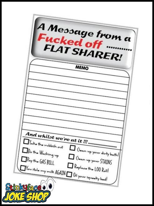 Cheeky Memo Pad - Flat Sharer