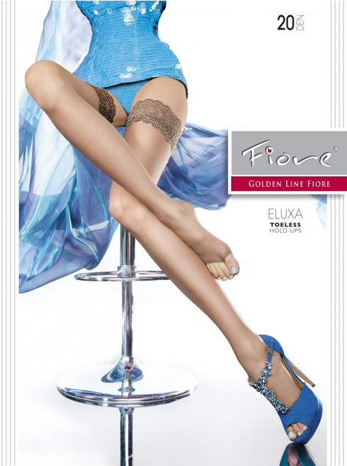 Eluxa open toe hold ups stockings 20 denier by Fiore