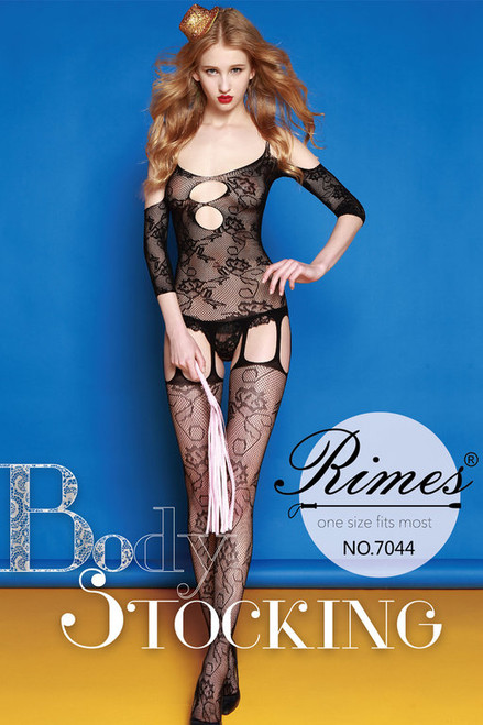 BODYSTOCKING 7044 BLACK O/S