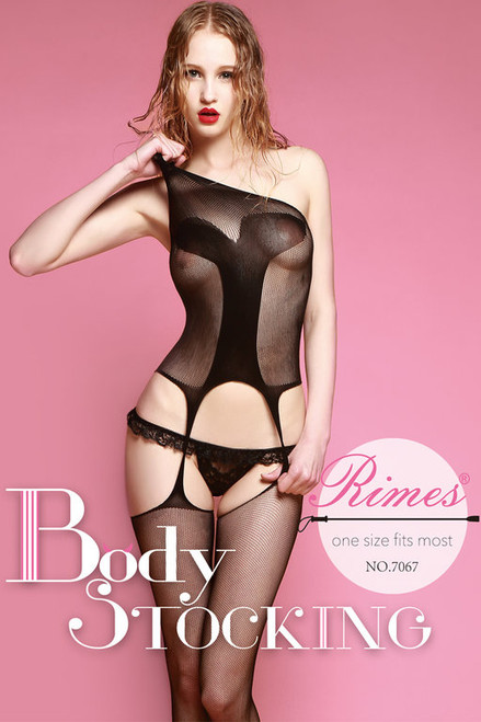 BodyStocking   7067 BLACK O/S